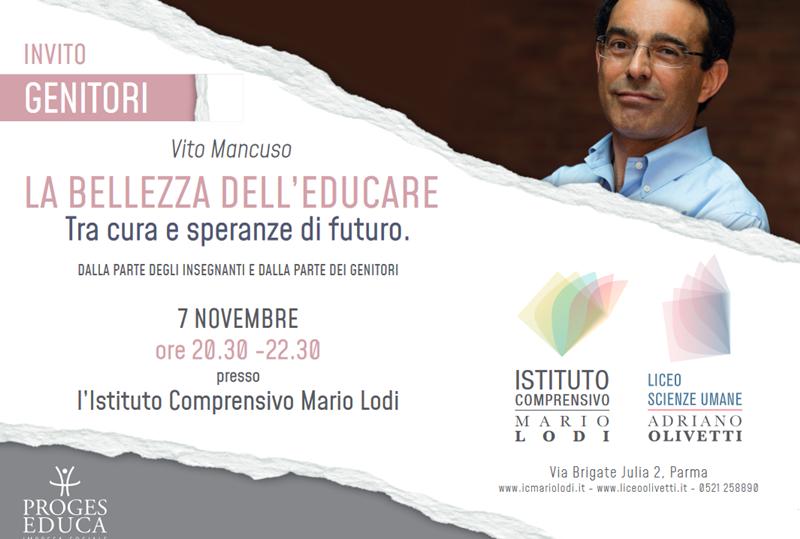 """Incontro con Vito Mancuso: """"La bellezza dell'educare – Tra cura e speranze di futuro"""