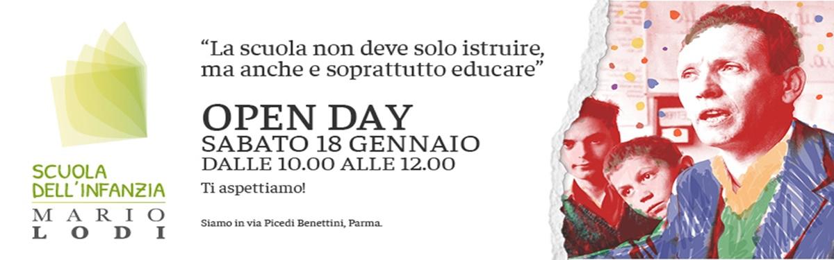 OPEN DAY ALLA SCUOLA DELL'INFANZIA DELL'IC MARIO LODI DI PARMA: SABATO 18 GENNAIO